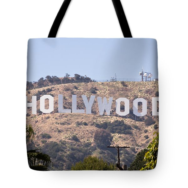 Hollywood Sign Photo Tote Bag by Paul Velgos