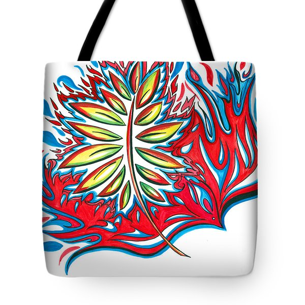 Holy Ghost Fire Tote Bag by Amber Hadden