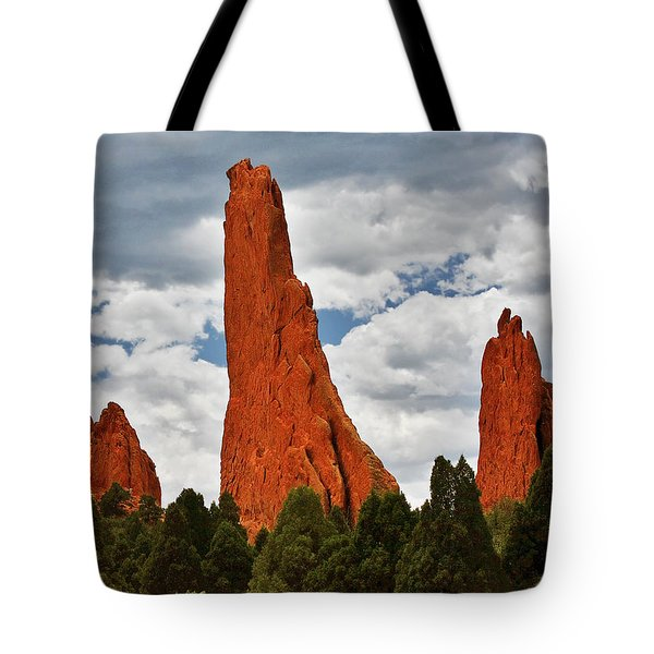 Home Of The Weather God - Garden Of The Gods - Colorado City Tote Bag by Christine Till
