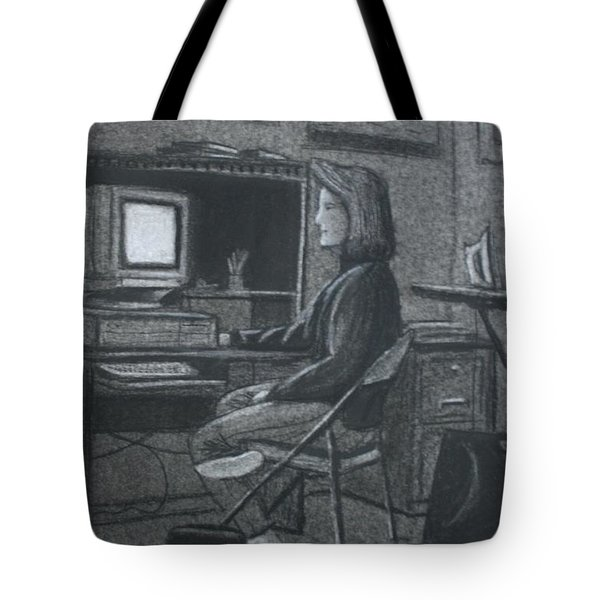 Home Office Tote Bag by Stacy C Bottoms