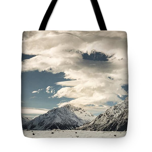 Hooker River In The Valley At Tasman Tote Bag by Colin Monteath