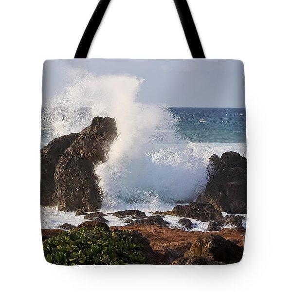 Hookipa Beach Wave 1 Tote Bag by Teresa Zieba