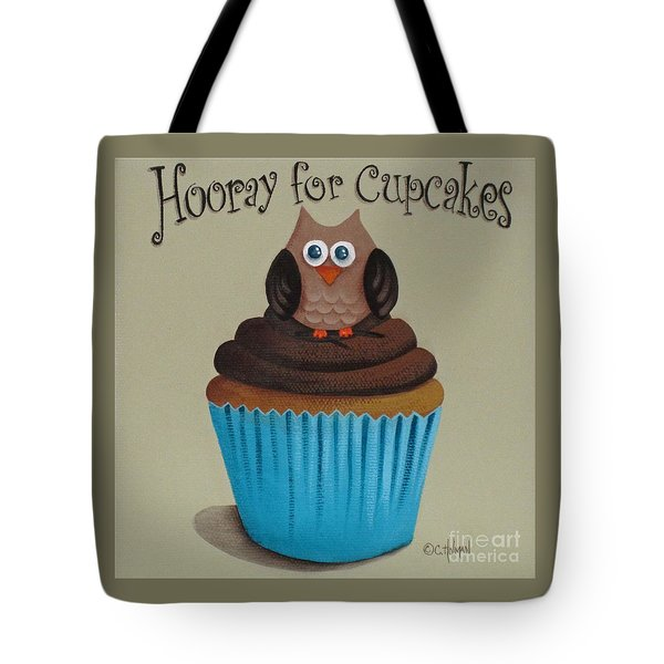 Hooray For Cupcakes Tote Bag by Catherine Holman