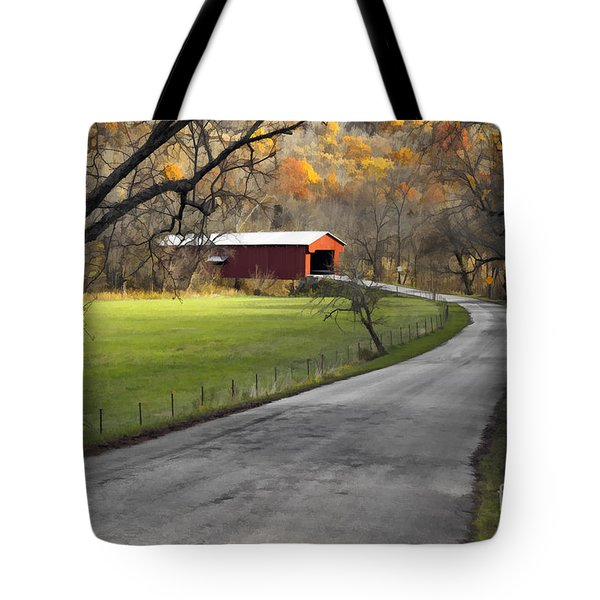 Hoosier Autumn - D007843a Tote Bag by Daniel Dempster