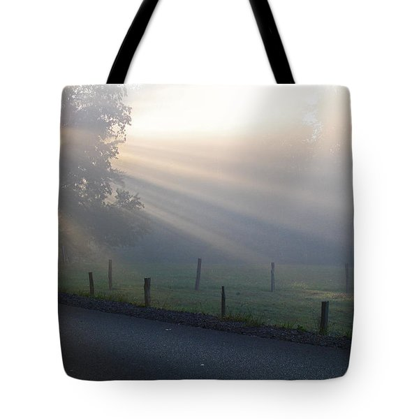 Hope Is In His Light Tote Bag