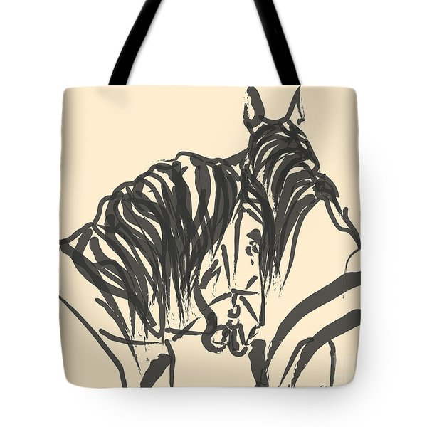 Tote Bag featuring the painting Horse - Together 9 by Go Van Kampen