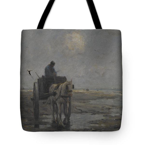 Horse And Cart Tote Bag by Evert Pieters