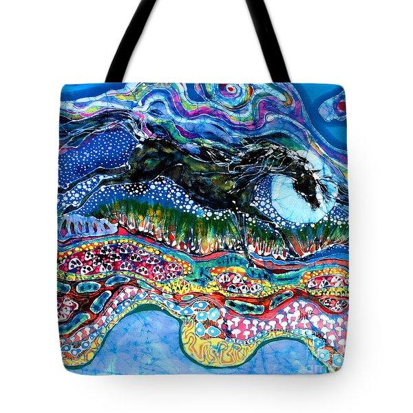 Horse Born Of Moon Energy Tote Bag by Carol Law Conklin