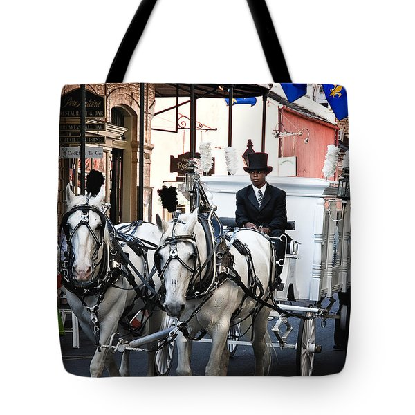 Horse Drawn Carriage Color Tote Bag by Kathleen K Parker