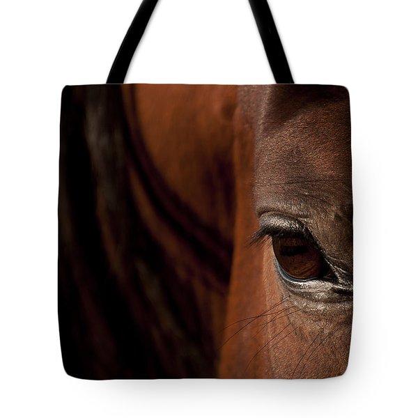 Horse Eye Tote Bag by Michael Mogensen