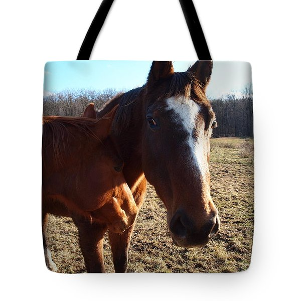 Horse Neck Tote Bag by Robert Margetts