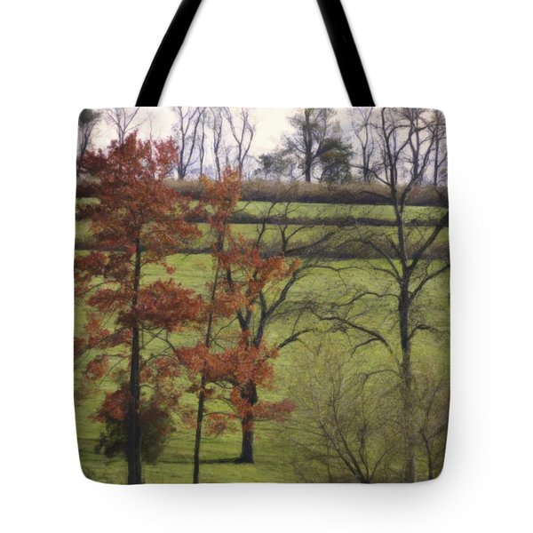 Horse On The Pasture Tote Bag by Trish Tritz