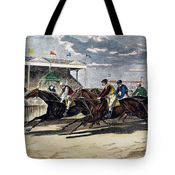 Horse Racing, Ny, 1879 Tote Bag by Granger