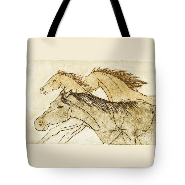 Tote Bag featuring the drawing Horse Sketch by Nareeta Martin