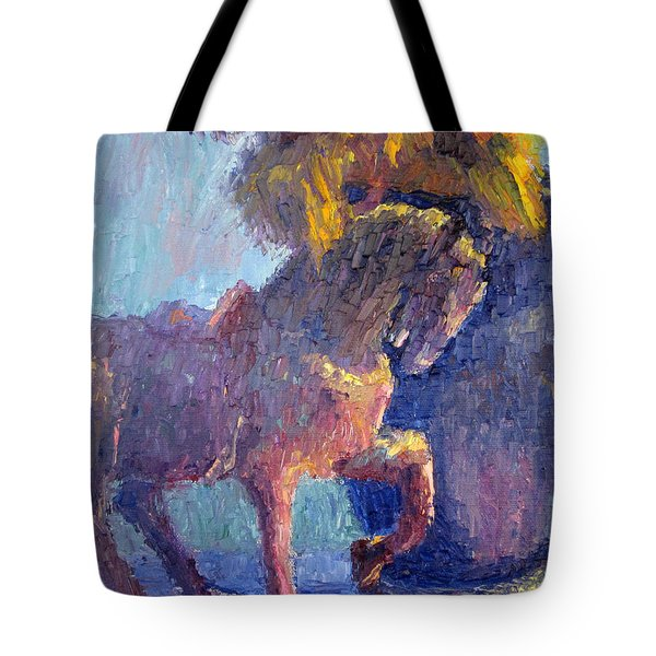 Horse Statue Tote Bag by Terry  Chacon