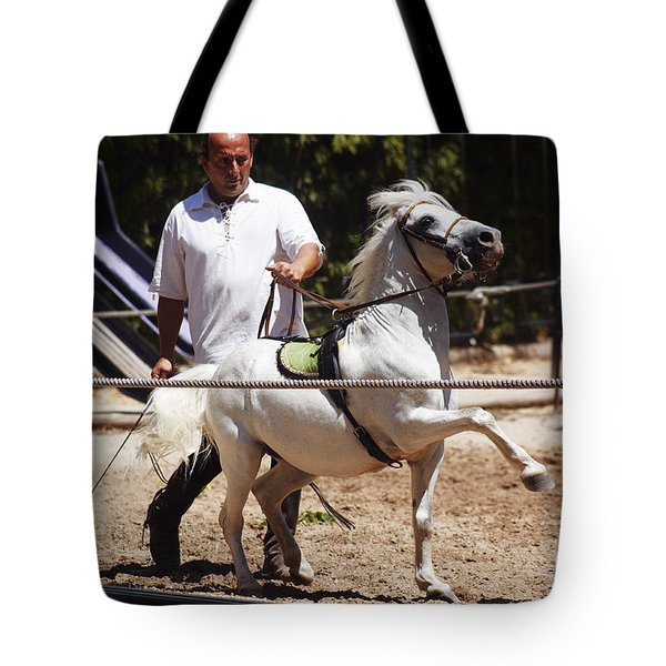 Horse Training Tote Bag