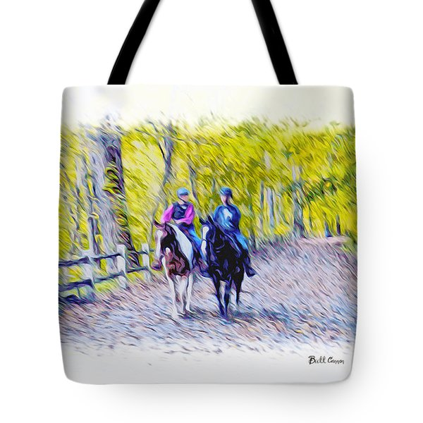 Horseback Riding  Tote Bag by Bill Cannon