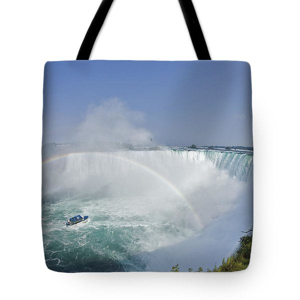 Horseshoe Falls And The Maid Tote Bag by Darwin Wiggett