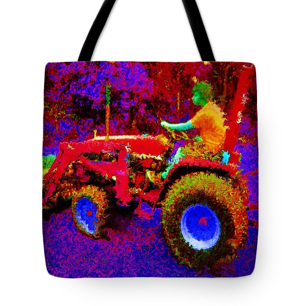 Tote Bag featuring the photograph Hot Afternoon On A John Deere Tractor by George Pedro