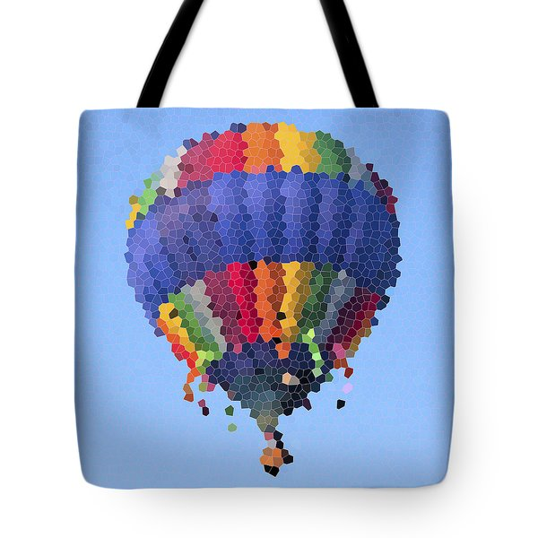 Hot Air Balloon In Stained Glass Tote Bag