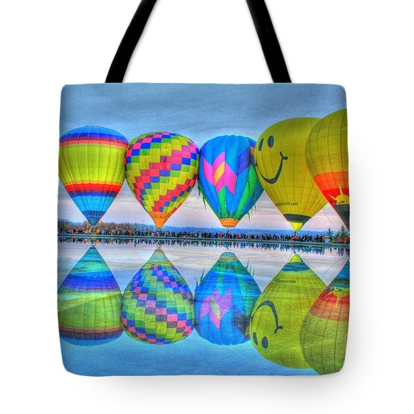 Hot Air Balloons At Eden Park Tote Bag