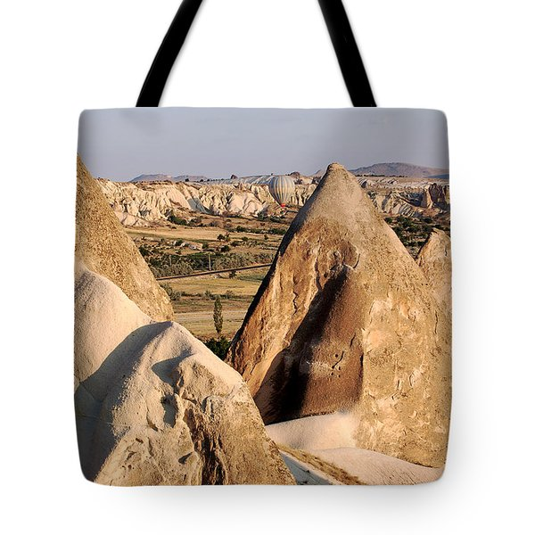 Hot Air Balloons Over Cappadocia Tote Bag by RicardMN Photography