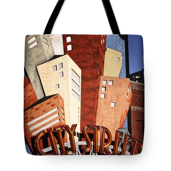 Hot City Streets Tote Bag by Joan Carroll