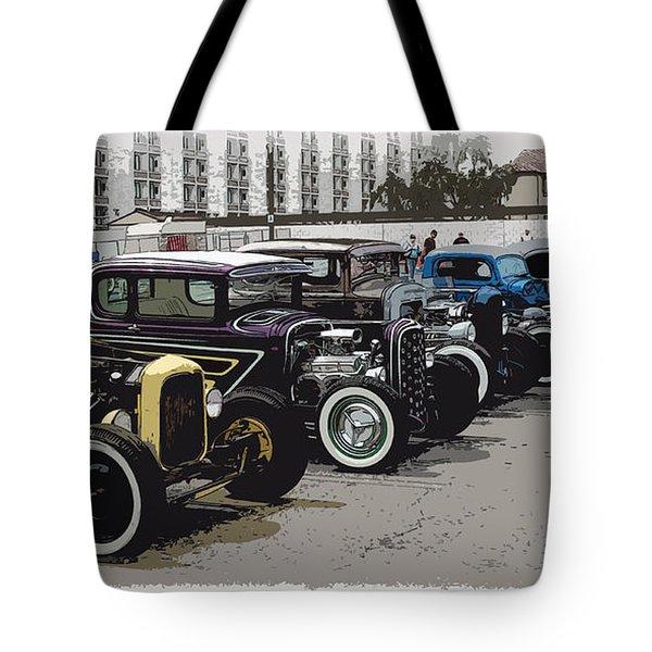 Hot Rod Row Tote Bag by Steve McKinzie