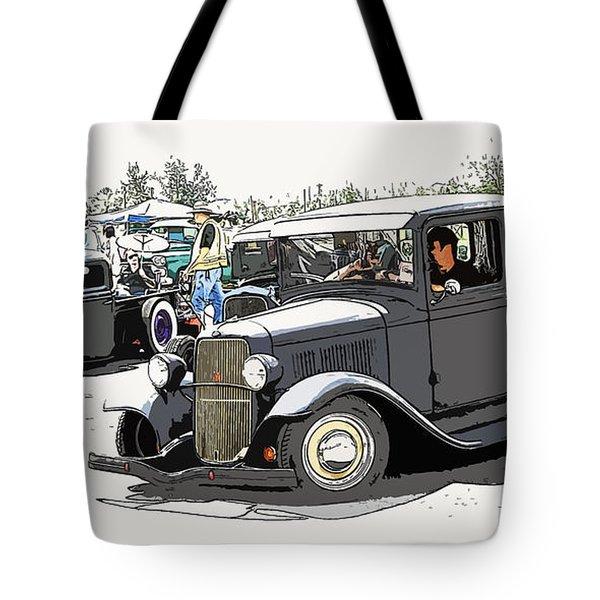 Hot Rod Show Trucks Tote Bag by Steve McKinzie