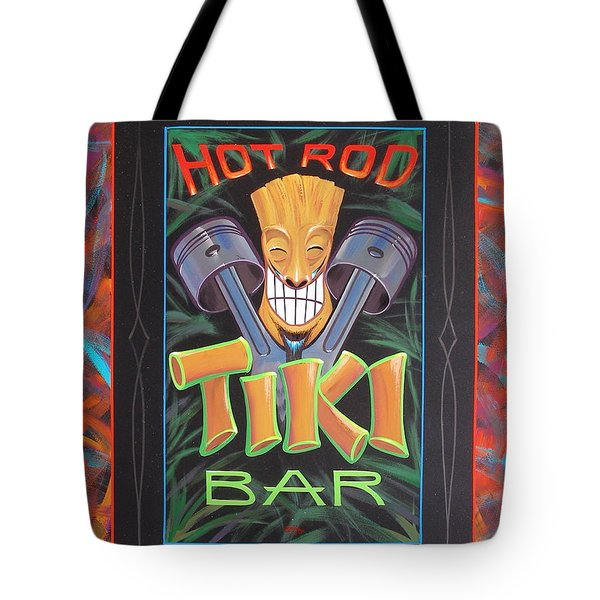 Hot Rod Tiki Bar Tote Bag