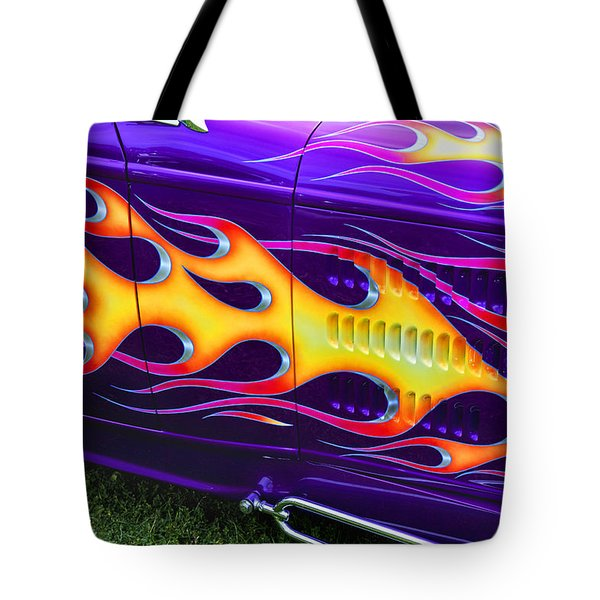 Hot Rod With Custom Flames Tote Bag by Garry Gay