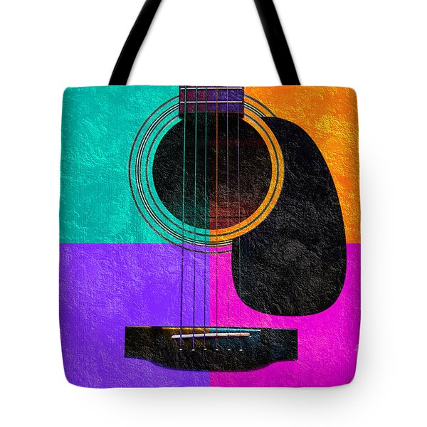 Hour Glass Guitar 4 Colors 2 Tote Bag by Andee Design