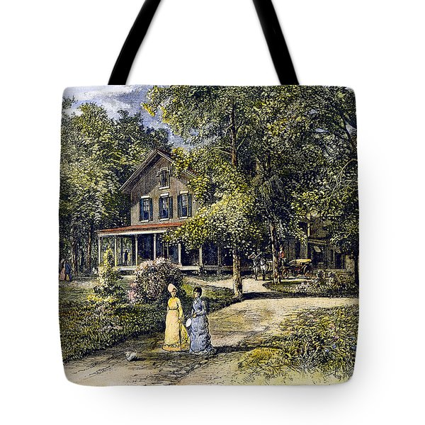 House, 19th Century Tote Bag by Granger