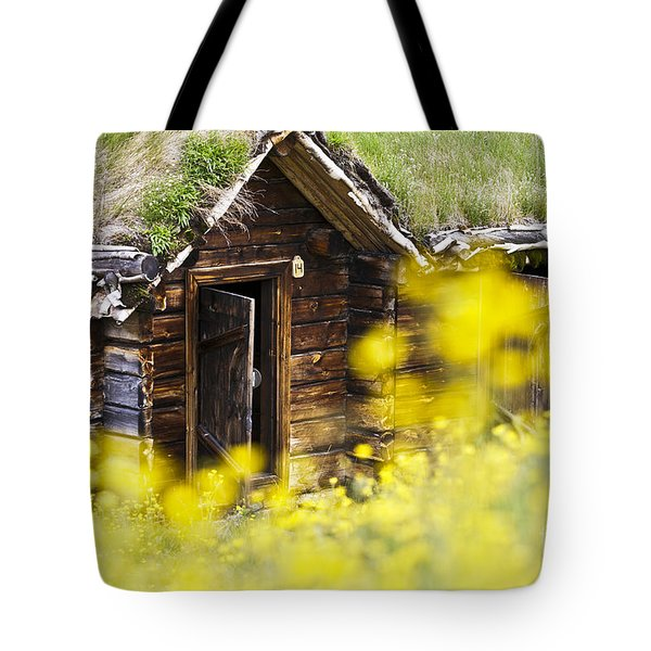 House Behind Yellow Flowers Tote Bag by Heiko Koehrer-Wagner