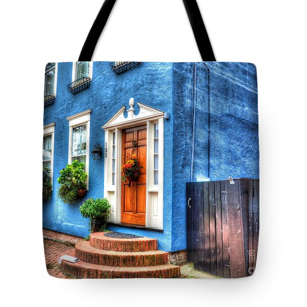 House Of Blues Tote Bag by Debbi Granruth