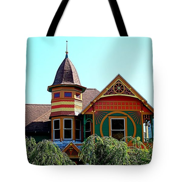 House Of Many Colors Tote Bag by Nick Kloepping