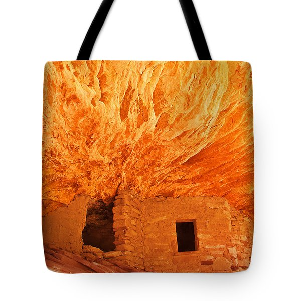 House On Fire Portrait 1 Tote Bag by Bob and Nancy Kendrick