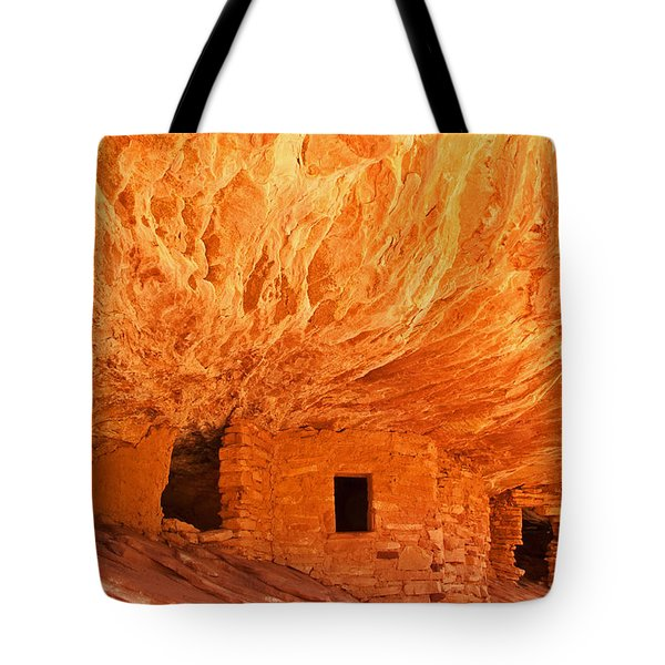 House On Fire Ruin Portrait 2 Tote Bag by Bob and Nancy Kendrick