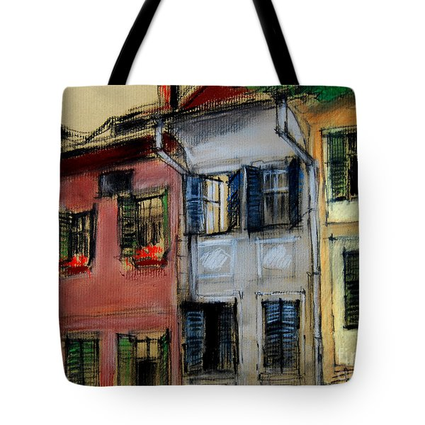 Houses In Transylvania 1 Tote Bag by Mona Edulesco