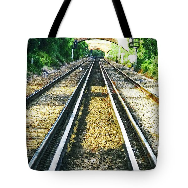 Tote Bag featuring the photograph How Come They Never Go Up The Middle by Steve Taylor