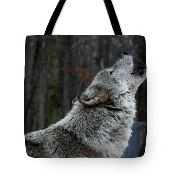 Howling Tundra Wolf Tote Bag by Richard Bryce and Family