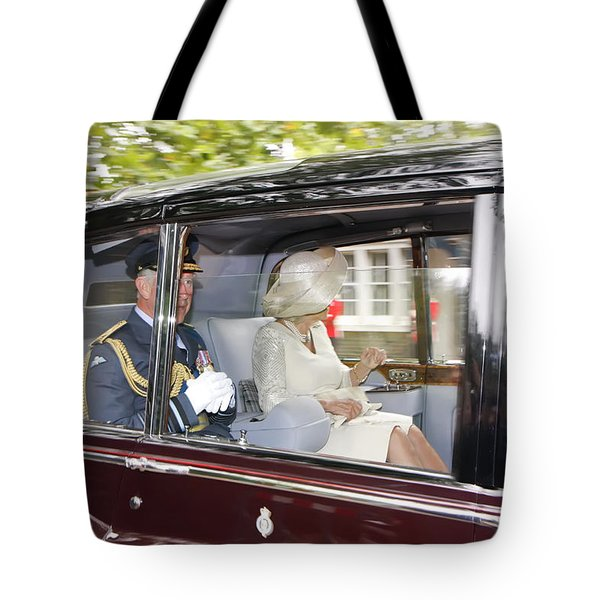 Tote Bag featuring the photograph Hrh Prince Charles And Camilla by KG Thienemann