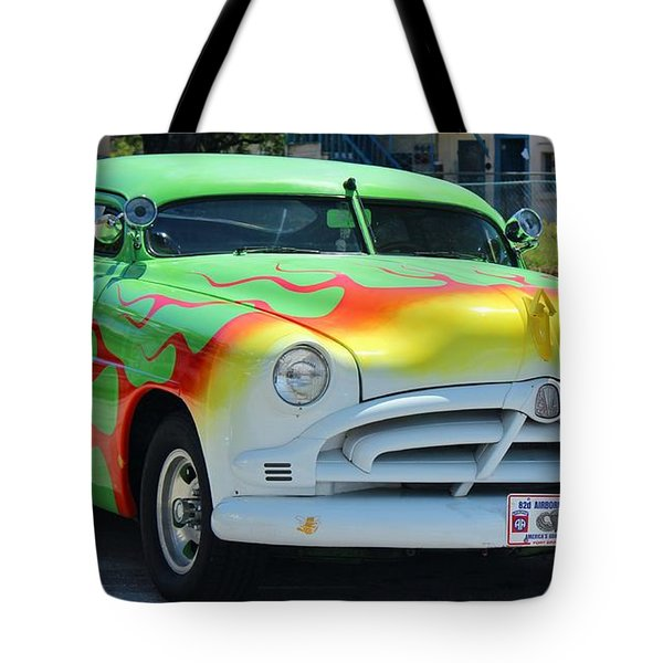 Hudson Low Rider Roadster Tote Bag by Rene Triay Photography