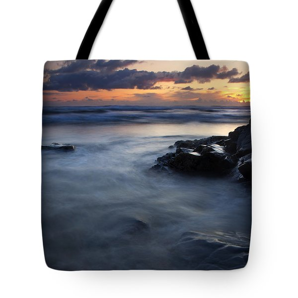 Hug Point Sunset Tote Bag by Mike  Dawson