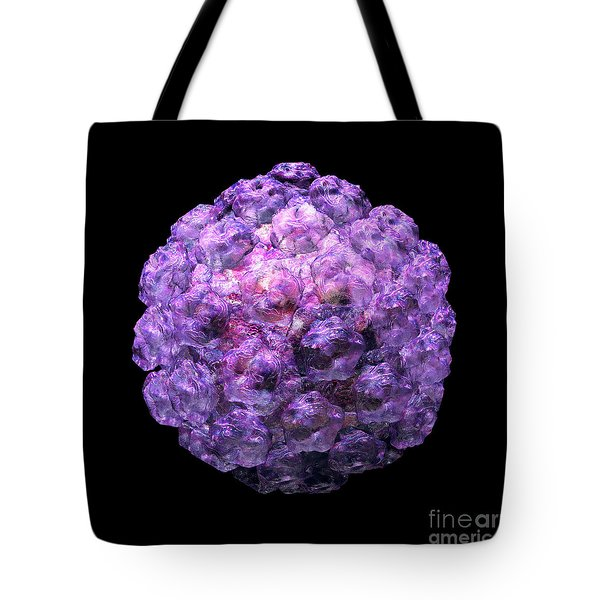 Tote Bag featuring the digital art Human Papilloma Virus  10 by Russell Kightley