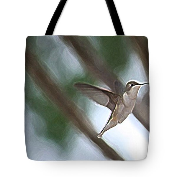 Tote Bag featuring the photograph Hummingbird by Donna  Smith