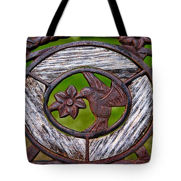 Hummingbird In Iron Tote Bag by Christopher Holmes
