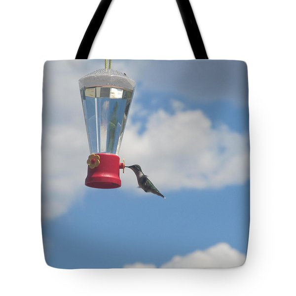 Tote Bag featuring the photograph Just A Hummingbird by Tina M Wenger