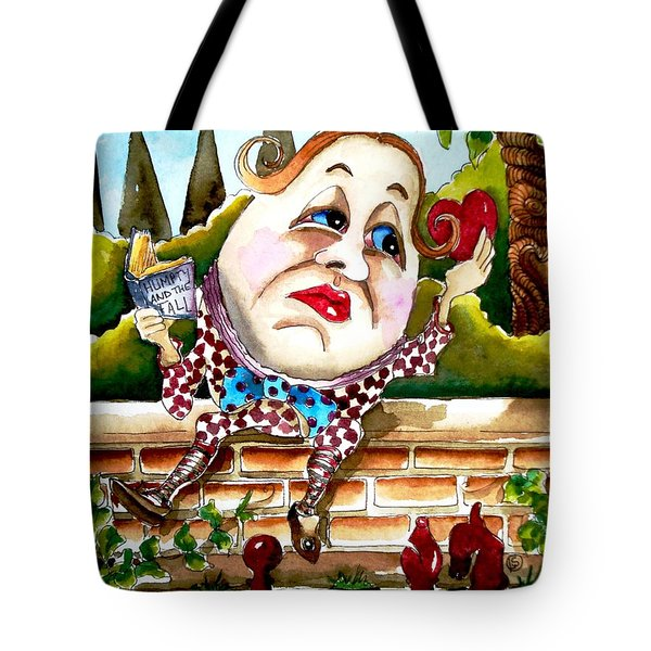 Humpty Dumpty Tote Bag by Lucia Stewart