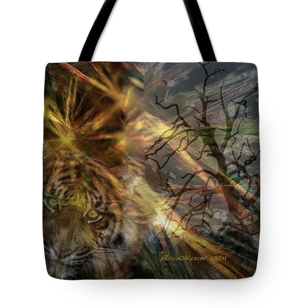 Tote Bag featuring the photograph Hunter by EricaMaxine  Price